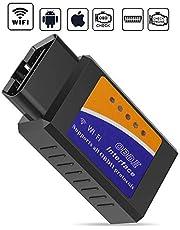 GeekerChip diagnosegerät zur Diagnose von Autofehlern, Scanner Für OBD2 die drahtlose Diagnose mit Original-Chip-Unterstützung (Kompatibel für iOS, Android, Windows)
