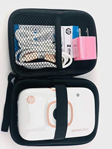 HP Sprocket 2-in-1 Sofortbildkamera & Taschen-Fotodrucker, Fotos auf 5 x 7 cm klebendem Papier + Reiseetui Fotopapier (10 Blatt) USB-Kabel Dual-USB-Ladegerät mit schneller und regelmäßiger Aufladung