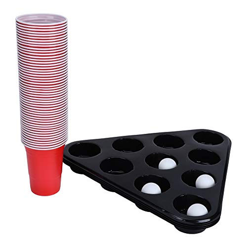 Taza de plástico reutilizable de 50 piezas con bandeja para tazas de té de 10 orificios, juego de tazas para beber, juego de fiesta para acampar para bodas