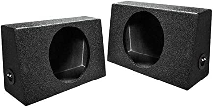 Q Power QBTRUCK110 Single 10-Inch Sealed Universal Truck Speaker Boxes with Durable Bed Liner Spray