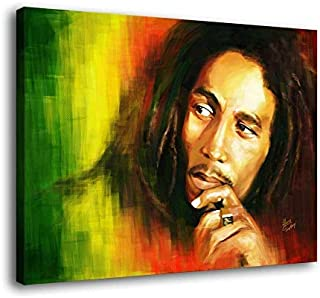 Lihuaiart-Bob Marley,3 Sizes,Art Home Wall Decorations for Bedroom Living Room Oil Paintings Canvas Prints-665 (Unframed,12x16inch)