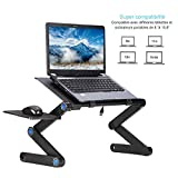 JueYan Support pour Ordinateur Portable - Table de Lit Pliable,Tablette Ergonomique - 360...