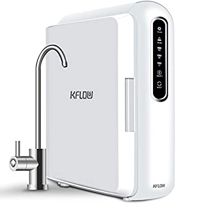KFLOW Reverse Osmosis Water Purifier, RO Tankless Water Filtration System, 400GPD High Flow, 2:1 Pure to Drain, Auto Flushing, Cartridges Life and Water Leakage Reminder (KFL-X6)