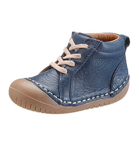Belly Button Baby Kinder Unisex Schuhe Lauflernschuhe Echtleder blau ergonomische Sohle mit Zehenschutz (25)