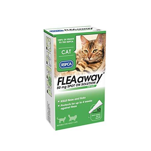 RSPCA fleaaway Spot On solución para gatos, 50mg