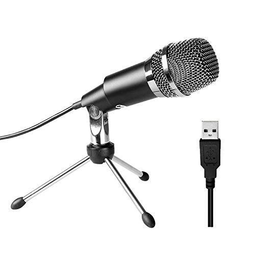 FIFINE Micrófono USB, PC Micrófono de Condensador USB de Estudio en casa Plug & Play para Skype, Grabaciones para Youtube, Búsqueda por Voz de Google, Juegos (Windows/Mac) - K668
