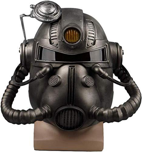 PIAOL Maschera per Radiazioni Casco di Halloween Spettacoli per Vestire Puntelli Maschera Horror Giochi Testa Puntelli per Cosplay Maschera in PVC,Silver-OneSize