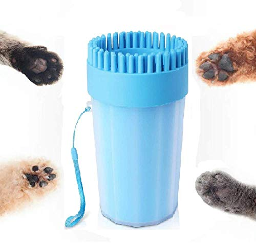 LASOCKETS 2 in 1 Portable Dog Paw Washer Dog Cleaning Brush Large Dog Foot Cleaner Cup