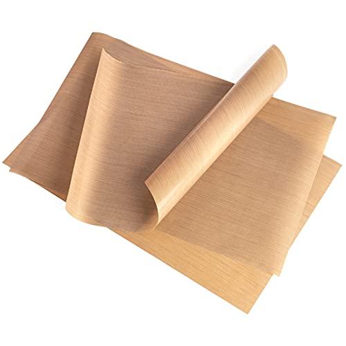 GOURMEO Dauerbackfolie, 3er Set, 32 x 46 cm - Backmatte, zuschneidbar und spülmaschinenfest – wiederverwendbares Backpapier