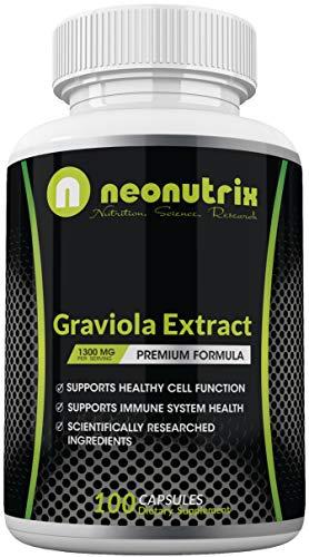 Graviola Extract Capsules 1300 mg - Guanabana...
