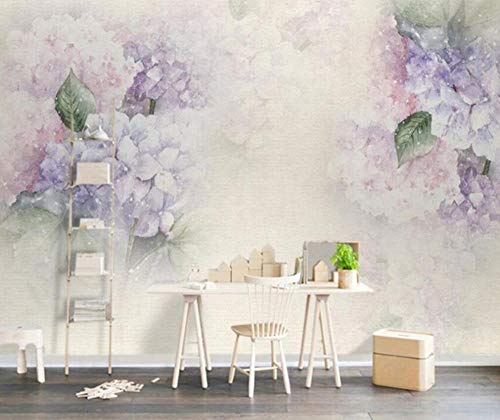 3D vliesbehang fotobehang abstract behang woonkamer achtergrond 3D behang lila hydrangea leaf vlinder fotobehang 3D behang 300*210 300 x 210 cm.