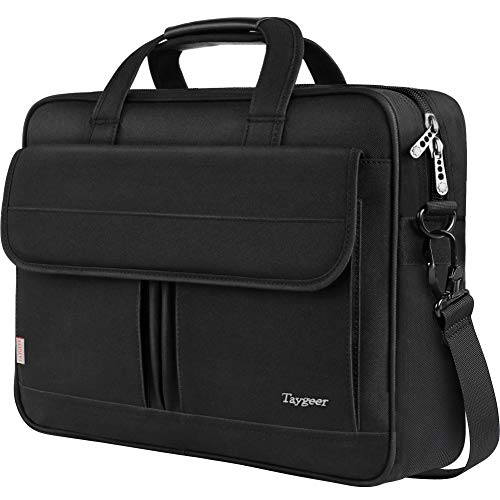 15.6 Inch Laptop Bag, Durable Business Briefcase for Men Women, Travel Shoulder Bag, Water Resistant Computer Messenger Bag, Carrying Case Fits 15.6 inches Laptop and Notebook