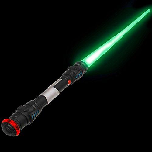 Espada láser Lightsaber Espada láser de 108 cm con luz, Sonido y vibración. (Verde)