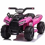 Mondial Toys Moto ELETTRICA per Bambini Mini Quad 6V ATV Full Optional Pink