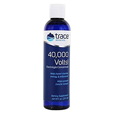 Trace Minerals Research, 40,000 Volts! Electrolyte Concentrate, 8 fl oz (237 ml) from Trace Minerals
