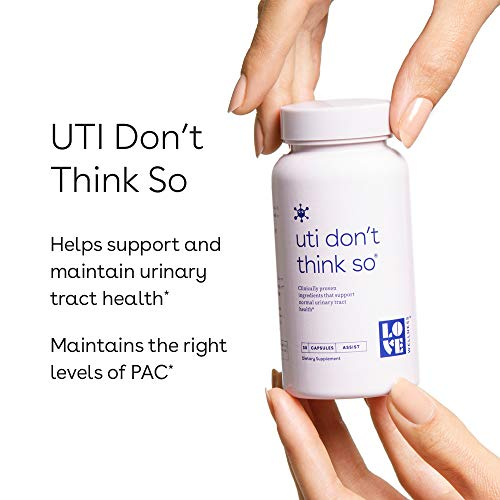 Love Wellness UTI Don't Think So - Maintain a Healthy Urinary Tract - 30 Day Supply - Helps Cleanse and Protect - Cranberry Supplement - Vegan & Gluten Free - Safe & Effective Take Daily