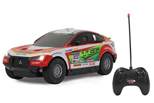 JAMARA 405147 - Mitsubishi Lancer Rally 1:16 27MHz - LED Beleuchtung, Gummibereifung, Geschwindigkeit ca. 7 Km/h und bis zu 60 Min. Fahrzeit