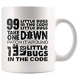 Taza té cerámica uso prolongado 99 errores en el código Take One Down Programmer Graduación del programador de computadoras Taza bebida café Regalo