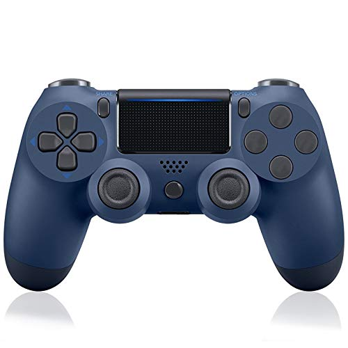 Controller Compatible with Playstation 4, Wireless Controller for PS4 with Built-in 1000mAh Rechargeable Battery, Gyro and Speaker Compatible with PS4/Slim/Pro Console【Blue】