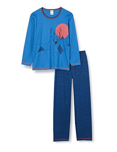 CALIDA Jungen Boys Wolf Pyjamaset, Star Blue, 152