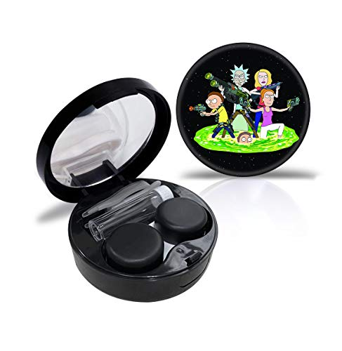 Morty and Rick Contact Lens Case Cute Contact Lens Travel Case Contact Lens Case Container Holder Storage Box Portable Contact Lens Travel Kits