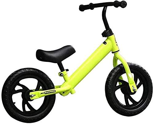 DRAGDS Bicicleta de Equilibrio, Bicicleta de Equilibrio para Niños sin Pedal de Bicicleta para 2-6 Años de Edad para Niños Bicicleta de Inserción con 12'Altura Ajustable M Ligero, Regalo,D,12 Pulgad