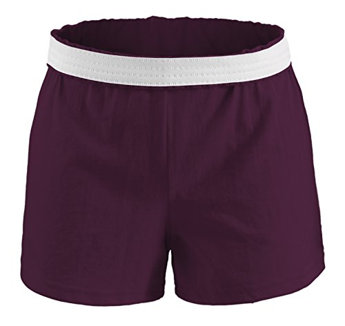 Soffe Youth Girls' Authentic Soffe Shorts, Maroon, Small