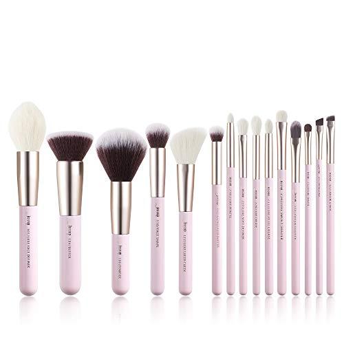 Jessup Set di 15 pennelli da trucco professionali per occhi, sopracciglia, labbra, ombretto, eyeliner e altri cosmetici, T293