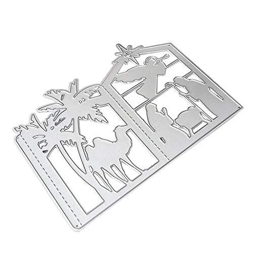 Guoqiao Stanzschablone Weihnachts-Laterne aus Metall, zum Basteln und Dekorieren