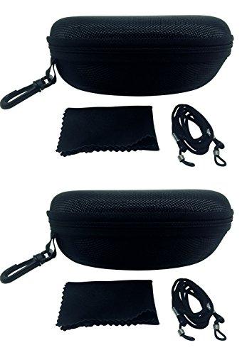 FALINGO FALINGO Brillenetuis Hardcases XXL schwarz 2 Stück 170 x 80 x 60mm stoßfest