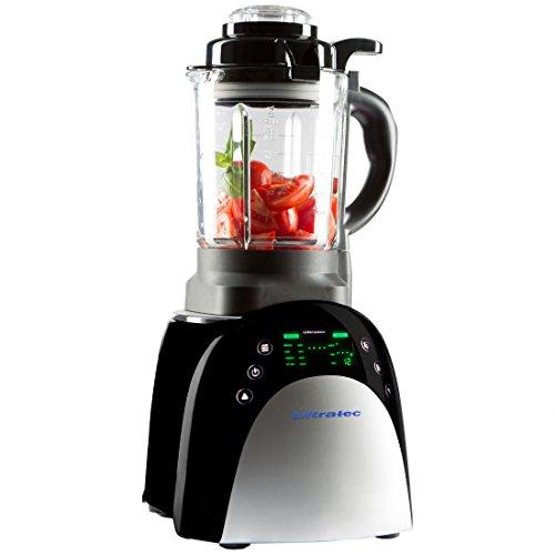 Ultratec Mixer mit Aufwärmfunktion – Multifunktions-Küchengerät mit Touchscreen, 1.800 Watt, Smoothie Mixer, Soup Maker, Fondue und Suppenbereiter, Schwarz