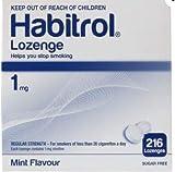 Habitrol Nicotine Lozenge 1mg Mint Flavor. 2 Packs of 216 Lozenges (Total 432)