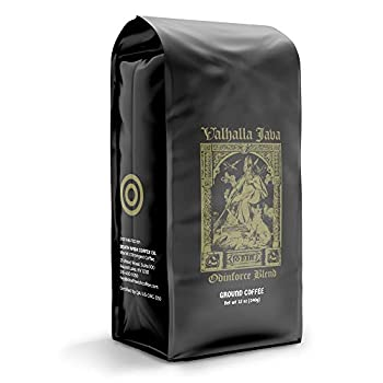 Valhalla Java Bagged Coffee Grounds [12 Oz.] World's Strongest Coffee USDA Certified Organic Fair Trade Arabica Robusta  1-Pack