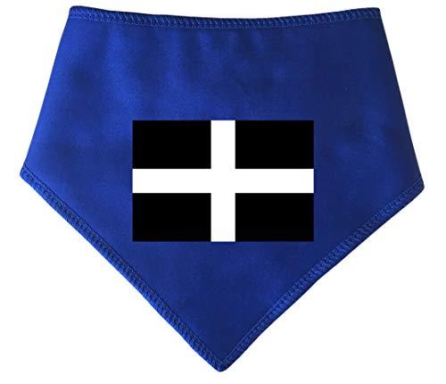 Spoilt Rotten Huisdieren, S2 Cornwall, huidige vlag kleine blauwe hond Bandana. St Piran's Zwart & Wit Kruis. Geschikt voor Shih-tzu, Westies, Terriers & Cockerpoo Sized Dogs