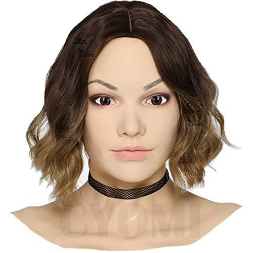 Cyomi Silikon-Maske realistisch weichere und natürlichere Haut als früher Crossdresser Drag Queen Karneval Cosplay Oktoberfest Halloween Maskerade - Beatrices Frauenmaske - 5. Generation