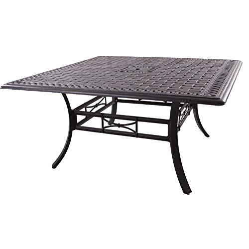 Big Sale Darlee Series 88 Cast Aluminum Patio Dining Table - Antique Bronze