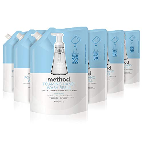 Method Foaming Hand Soap Refill, Sweet Water, 28 Fl Oz (Pack of 6)