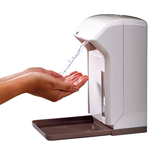 Airmed PLUS Spender Desinfektionsmittel Sensor Wandmontage Auffangschale | AUTOMATISCHER HANDDESINFEKTIONSMITTELSPENDER 1000 ml weiß | seifenspender automatisch wandmontage klein