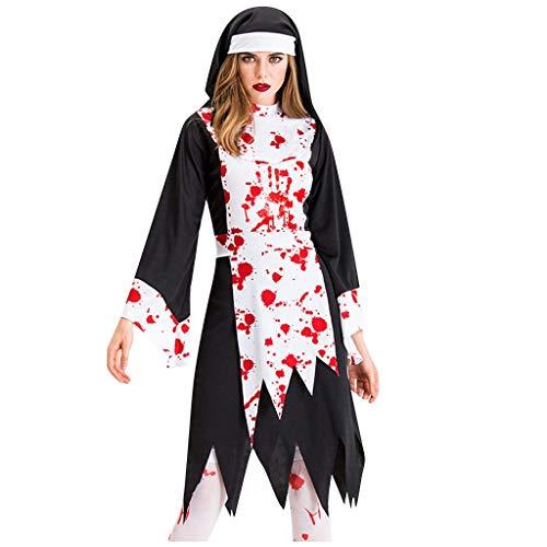 RISTHY Vestidos de Halloween para Mujeres Fiesta de Disfraces de Cosplay Vestido Largo Vintage