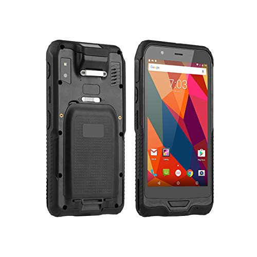 LLC-POWER Android 7.0 Handheld Terminal Mobile avec Écran Tactile 6.0In, Honeywell Scanner 2D, NFC Reader 8 + 2MP Double Caméra, Support sans Fil 4G WiFi GPS IP65 BT Étanche,Noir