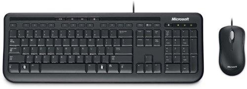 Microsoft – Wired Desktop 600 – Ensemble clavier et souris filaire, compatible Windows et macOS (Clavier AZERTY français) – Noir (APB-00007)