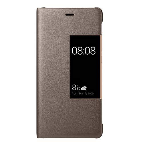 14chvily Kompatibel Für Huawei P9 Hülle, Huawei P9 Plus Leder PU Handyhülle 360-Grad-Schutz Shockproof Handytasche Kredit Kartenfächer Geldklammer (Brown, P9)