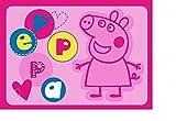 Tapis pour enfants avec Peppa COCHONE / PIG PIGGY rose / LA namensgebende Hauptfigur...