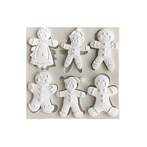 SWAXQ Küchenform Weihnachten Lebkuchenmann Weihnachtsserie Silikonform Fondant Kuchenform Schokoladenbonbon Tonform Küche Kochutensilien