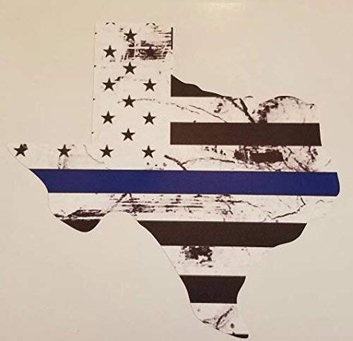 Back The Blue decal - Thin Blue Line (BLACK STARS)
