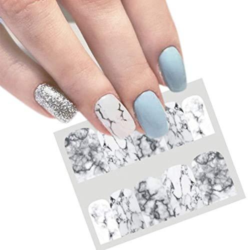 Behavetw Autocollants pour nail art, série marbre, facile à utiliser, cadeau idéal pour femmes et filles (BN-624)