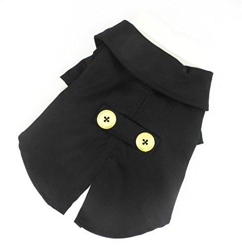 Pegasus pour petit chien chat chiot Pet vêtements pour smoking noir classique pour homme mariage Costume Vêtements