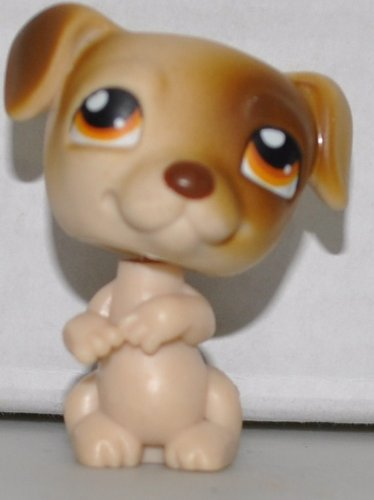 Jack Russell #109 (Tan, Brown Accents) Littlest Pet Shop (Retired) Collector Toy - LPS Collectible Replacement Single Figure - Loose (OOP Out of Package & Print)