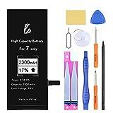 LL TRADER Batería para iPhone 7, 2300mAH Reemplazo de Alta Capacidad con Kits de Herramientas de Reparación