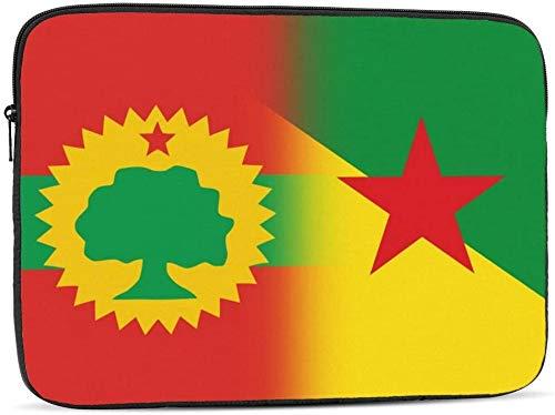 Banderas de The Oromo Liberation Front&Florida - Funda para ordenador portátil de 10 a 17 pulgadas, diseño de bandera de la Liberación de Oromo Front&Guayana Francesa, 15 pulgadas